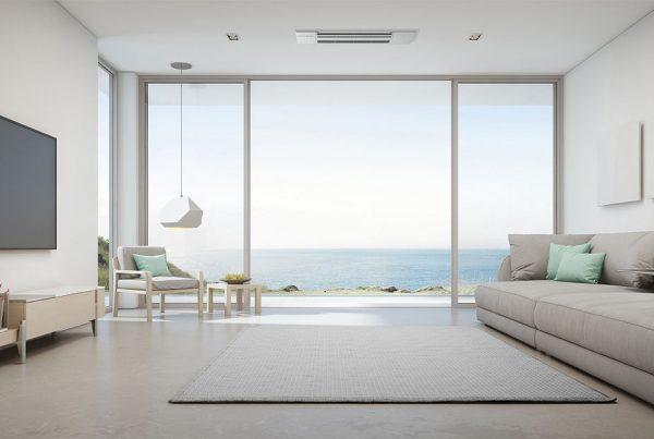 Apartamento na praia - sala com vista para o mar