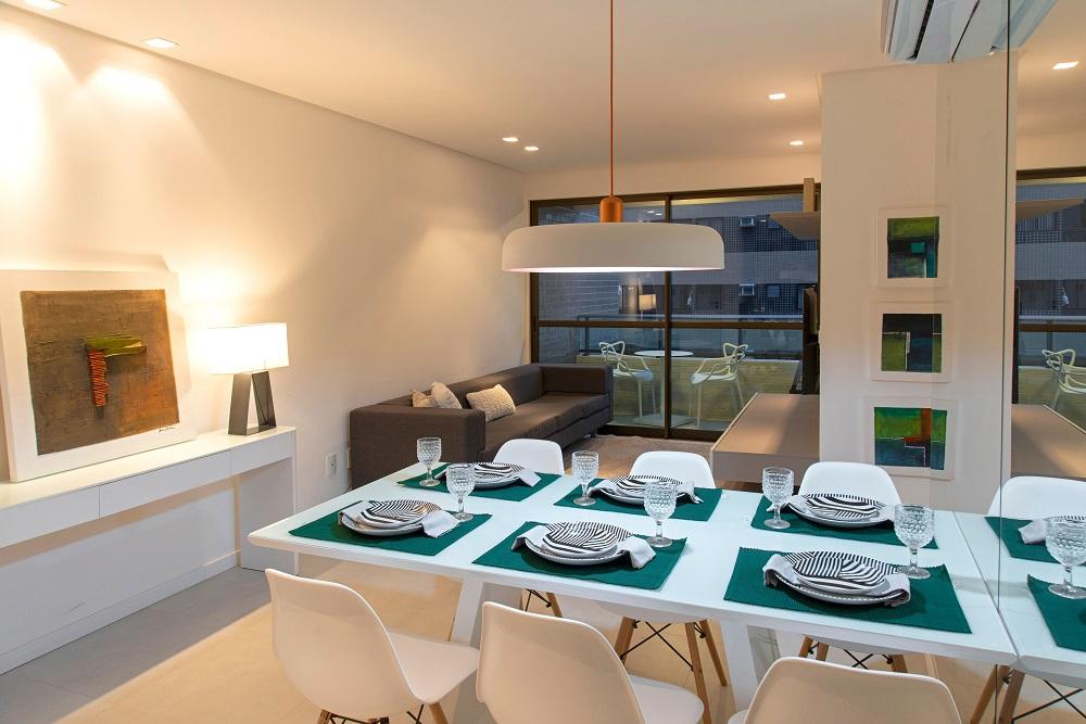 Apartamentos decorados - sala de estar e jantar decoradas