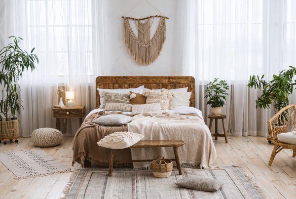 Decoração rústica - quarto decorado