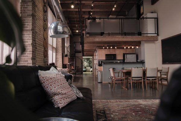 Apartamento loft decorado