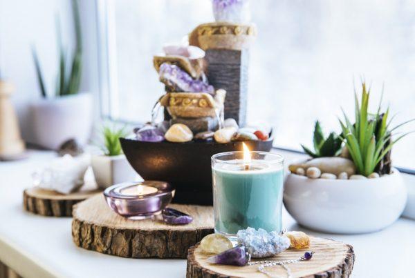 Feng shui - velas e plantas